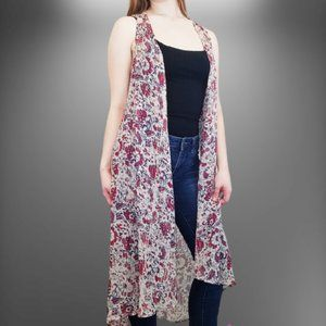 ⭐ Mossimo Floral Sleeveless Long Duster